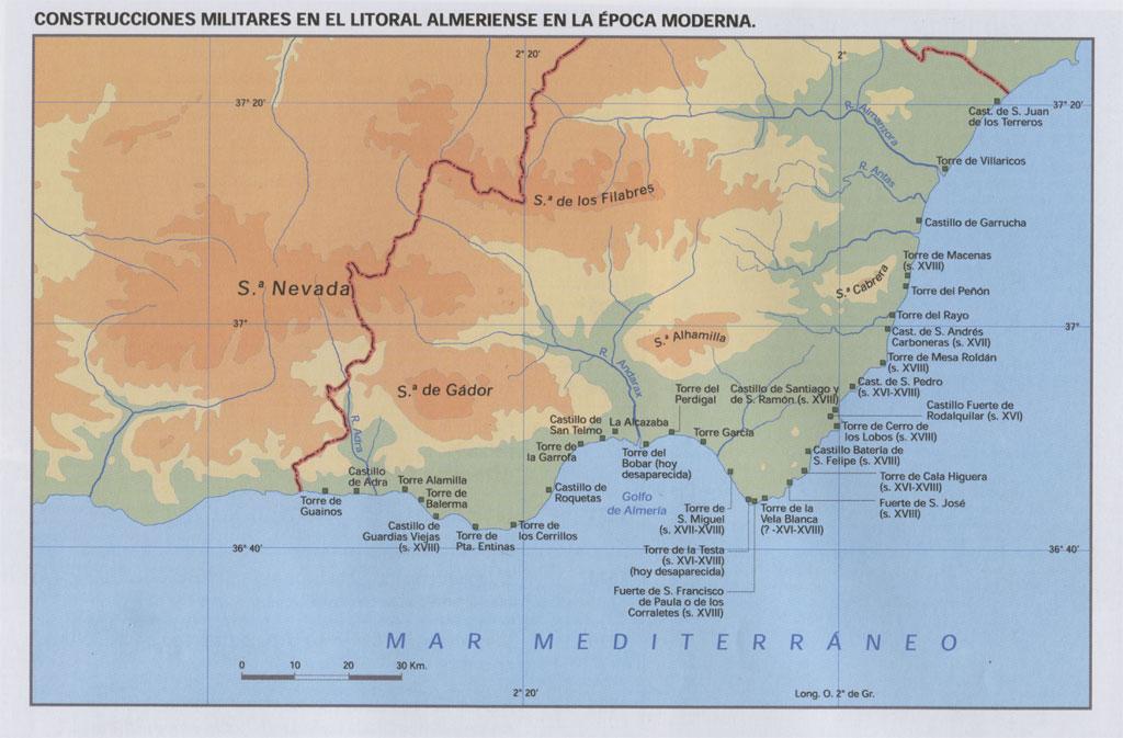 Construcciones militares en el litoral Almeriense