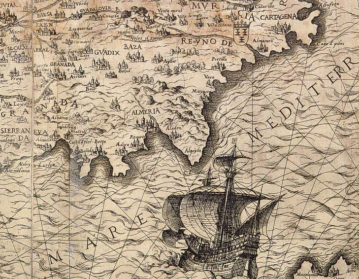 Mapa G.Cook, 1553