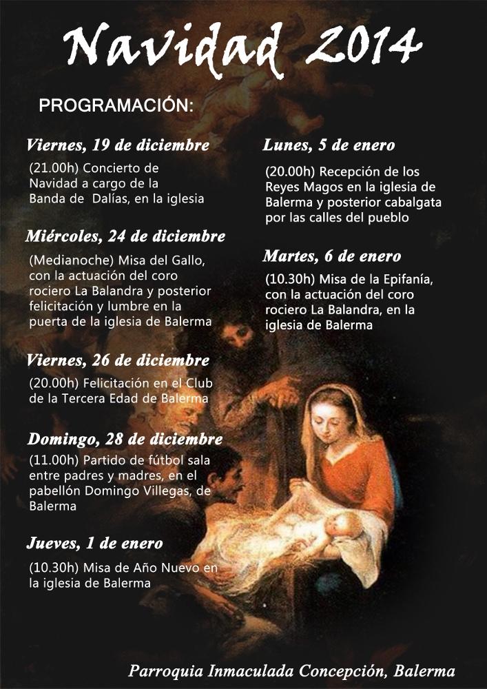 Cartel navidad Balerma