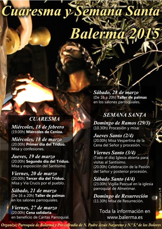 cartel cuaresma semana santa 2015 Balerma