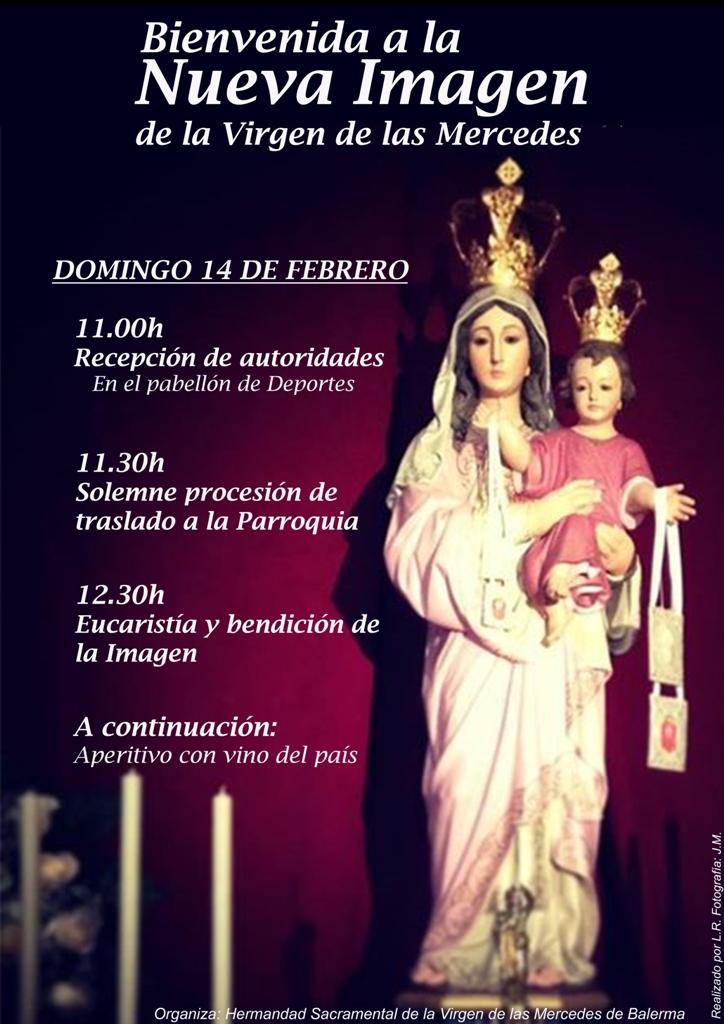 bienvenida Virgen Mercedes Balerma